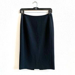 Worth Black Wool Pencil Skirt Sz 0